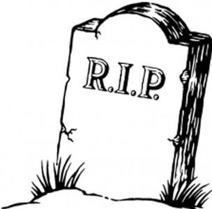 R.I.P tombstone
