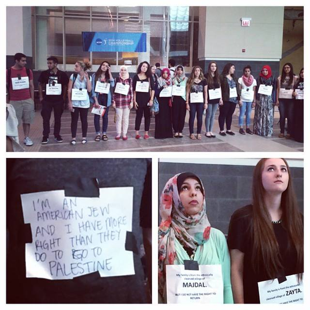 SJP Students Hurl Insults At Jewish Peers, Protest Their Israel Display