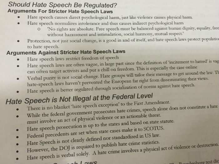 hate speech in colleges Today's conventional wisdom seems to be that university speech codes banning offensive expression on campus are a distant relic of the heyday of political correctness in the 1980s and 90s but in truth, speech codes university policies prohibiting expression protected by the.