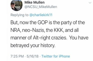 Commie-Maggot: North Carolina State vice chancellor's tweets call Republicans neo-Nazis, rednecks  Mullen3-370x242